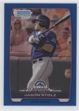 2012 Bowman Draft Picks & Prospects - Chrome Draft Picks - Blue Refractors #BDPP125 - Jason Stolz /250