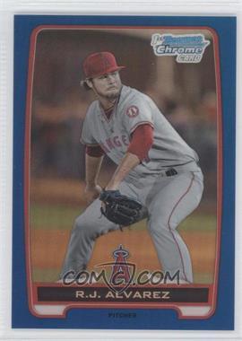 2012 Bowman Draft Picks & Prospects - Chrome Draft Picks - Blue Refractors #BDPP46 - R.J. Alvarez /250