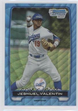 2012 Bowman Draft Picks & Prospects - Chrome Draft Picks - Blue Wave Refractors #BDPP11 - Jesmuel Valentin