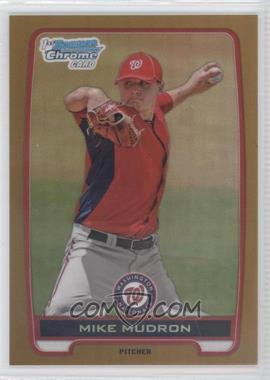 2012 Bowman Draft Picks & Prospects - Chrome Draft Picks - Gold Refractors #BDPP153 - Mike Mudron /50