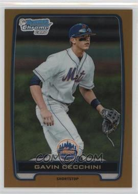 2012 Bowman Draft Picks & Prospects - Chrome Draft Picks - Gold Refractors #BDPP17 - Gavin Cecchini /50