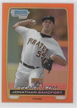 2012 Bowman Draft Picks & Prospects - Chrome Draft Picks - Orange Refractors #BDPP54 - Jonathan Sandfort /25