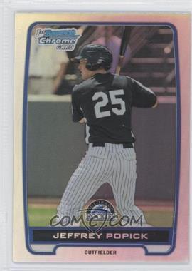 2012 Bowman Draft Picks & Prospects - Chrome Draft Picks - Refractors #BDPP121 - Jeffrey Popick