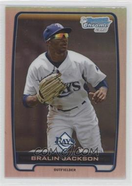 2012 Bowman Draft Picks & Prospects - Chrome Draft Picks - Refractors #BDPP60 - Bralin Jackson