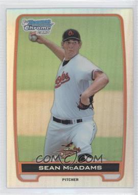2012 Bowman Draft Picks & Prospects - Chrome Draft Picks - Refractors #BDPP94 - Sean McAdams