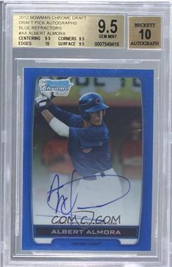 2012 Bowman Draft Picks & Prospects - Chrome Draft Picks Certified Autographs - Blue Refractor #BCA-AA - Albert Almora /150 [BGS9.5]
