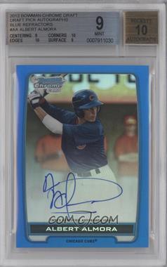 2012 Bowman Draft Picks & Prospects - Chrome Draft Picks Certified Autographs - Blue Refractor #BCA-AA - Albert Almora /150 [BGS9]