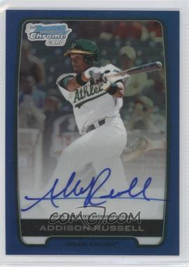 2012 Bowman Draft Picks & Prospects - Chrome Draft Picks Certified Autographs - Blue Refractor #BCA-AR - Addison Russell /150