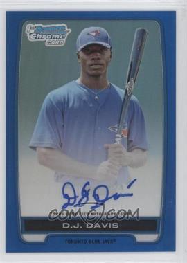 2012 Bowman Draft Picks & Prospects - Chrome Draft Picks Certified Autographs - Blue Refractor #BCA-DDA - D.J. Davis /150