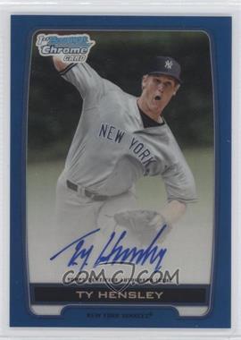 2012 Bowman Draft Picks & Prospects - Chrome Draft Picks Certified Autographs - Blue Refractor #BCA-TH - ty hensley /150