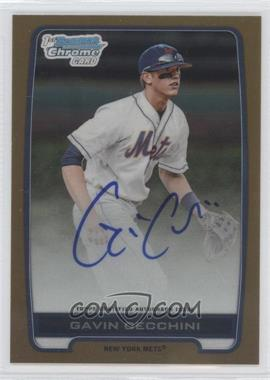 2012 Bowman Draft Picks & Prospects - Chrome Draft Picks Certified Autographs - Gold Refractor [Autographed] #BCA-GC - Gavin Cecchini /50