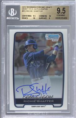 2012 Bowman Draft Picks & Prospects - Chrome Draft Picks Certified Autographs #BCA-RS - Richie Shaffer [BGS9.5]