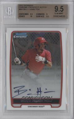 2012 Bowman Draft Picks & Prospects - Chrome Prospects Certified Autographs - [Autographed] #BCA-BH - Billy Hamilton [BGS 9.5]