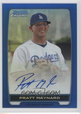 2012 Bowman Draft Picks & Prospects - Chrome Prospects Certified Autographs - Blue Refractor #BCA-PM - Pratt Maynard /150