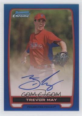 2012 Bowman Draft Picks & Prospects - Chrome Prospects Certified Autographs - Blue Refractor #BCA-TM - Trevor May /150