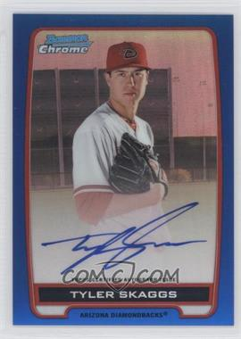 2012 Bowman Draft Picks & Prospects - Chrome Prospects Certified Autographs - Blue Refractor #BCA-TS - Tyler Skaggs /150