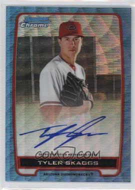 2012 Bowman Draft Picks & Prospects - Chrome Prospects Certified Autographs - Blue Wave Refractor #BCA-TS - Tyler Skaggs /50