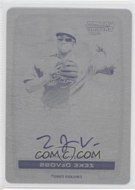 2012 Bowman Draft Picks & Prospects - Chrome Prospects Certified Autographs - Printing Plate Black #BCA-ZD - Zeke DeVoss /1