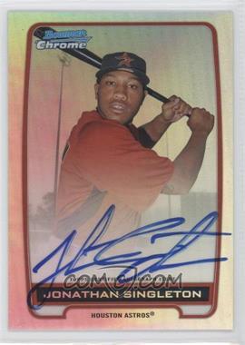 2012 Bowman Draft Picks & Prospects - Chrome Prospects Certified Autographs - Refractor #BCA-JS - Jonathan Singleton /500