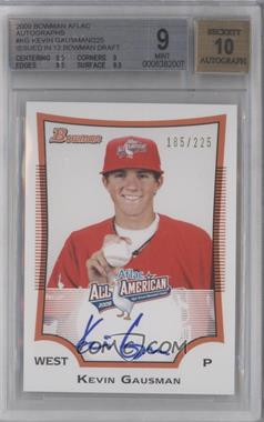 2012 Bowman Draft Picks & Prospects Aflac All-American Certified Autographs [Autographed] #AFLAC-KG - Kevin Gausman /225 [BGS9]