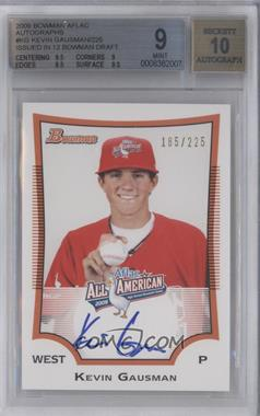 2012 Bowman Draft Picks & Prospects Aflac All-American Certified Autographs [Autographed] #AFLAC-KG - Kevin Gausman /225 [BGS 9]
