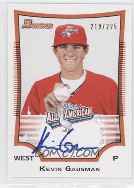 2012 Bowman Draft Picks & Prospects Aflac All-American Certified Autographs [Autographed] #AFLAC-KG - Kevin Gausman /225