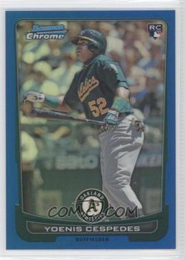 2012 Bowman Draft Picks & Prospects Chrome Blue Refractor #4 - Yoenis Cespedes /250