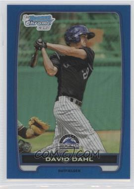 2012 Bowman Draft Picks & Prospects Chrome Draft Picks Blue Refractors #BDPP104 - David Dahl /250