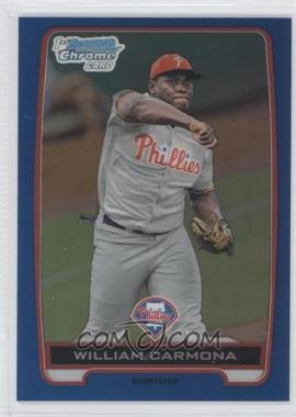 2012 Bowman Draft Picks & Prospects Chrome Draft Picks Blue Refractors #BDPP80 - William Carmona /250