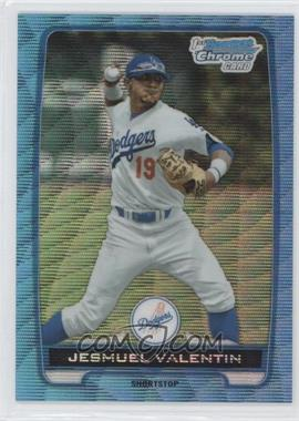 2012 Bowman Draft Picks & Prospects Chrome Draft Picks Blue Wave Refractors #BDPP11 - Jesmuel Valentin