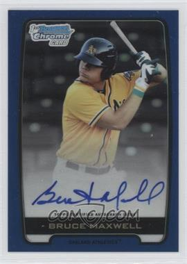 2012 Bowman Draft Picks & Prospects Chrome Draft Picks Certified Autographs Blue Refractor #BCA-BM - Bruce Maxwell /150