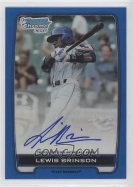 2012 Bowman Draft Picks & Prospects Chrome Draft Picks Certified Autographs Blue Refractor #BCA-LB - Lewis Brinson /150