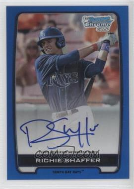 2012 Bowman Draft Picks & Prospects Chrome Draft Picks Certified Autographs Blue Refractor #BCA-RS - Richie Shaffer /150