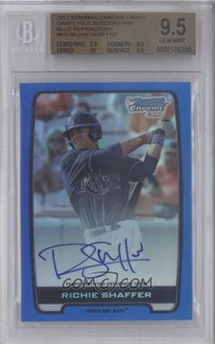 2012 Bowman Draft Picks & Prospects Chrome Draft Picks Certified Autographs Blue Refractor #BCA-RS - Richie Shaffer /150 [BGS9.5]