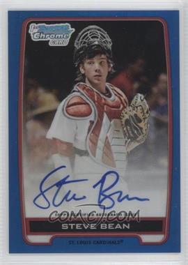 2012 Bowman Draft Picks & Prospects Chrome Draft Picks Certified Autographs Blue Refractor #BCA-SB - Steve Bean /150