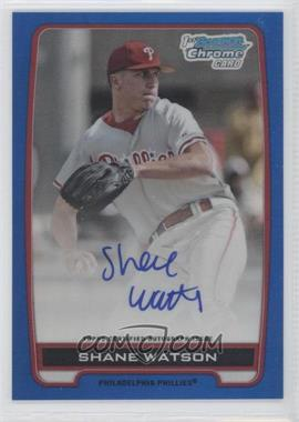 2012 Bowman Draft Picks & Prospects Chrome Draft Picks Certified Autographs Blue Refractor #BCA-SW - Shane Watson /150