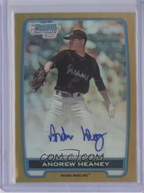 2012 Bowman Draft Picks & Prospects Chrome Draft Picks Certified Autographs Gold Refractor [Autographed] #BCA-AH - Andrew Heaney /50