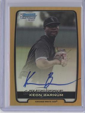 2012 Bowman Draft Picks & Prospects Chrome Draft Picks Certified Autographs Gold Refractor [Autographed] #BCA-KB - Keon Barnum /50