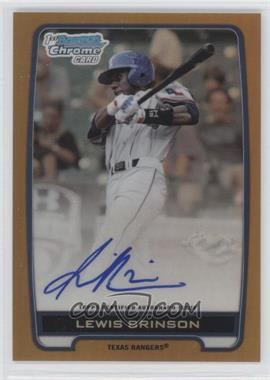 2012 Bowman Draft Picks & Prospects Chrome Draft Picks Certified Autographs Gold Refractor [Autographed] #BCA-LB - Lewis Brinson /50