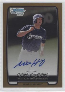 2012 Bowman Draft Picks & Prospects Chrome Draft Picks Certified Autographs Gold Refractor [Autographed] #BCA-MH - Mitch Haniger /50