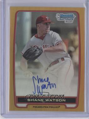 2012 Bowman Draft Picks & Prospects Chrome Draft Picks Certified Autographs Gold Refractor [Autographed] #BCA-SW - Shane Watson /50