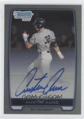 2012 Bowman Draft Picks & Prospects Chrome Draft Picks Certified Autographs Refractor [Autographed] #BCA-AAU - Austin Aune