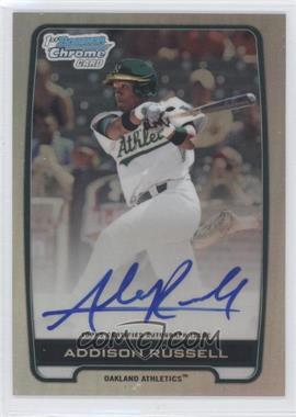 2012 Bowman Draft Picks & Prospects Chrome Draft Picks Certified Autographs Refractor [Autographed] #BCA-AR - Addison Russell