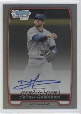 2012 Bowman Draft Picks & Prospects Chrome Draft Picks Certified Autographs Refractor [Autographed] #BCA-DM - Deven Marrero