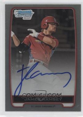 2012 Bowman Draft Picks & Prospects Chrome Draft Picks Certified Autographs Refractor [Autographed] #BCA-JR - James Ramsey