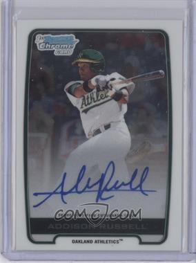2012 Bowman Draft Picks & Prospects Chrome Draft Picks Certified Autographs #BCA-AR - Addison Russell