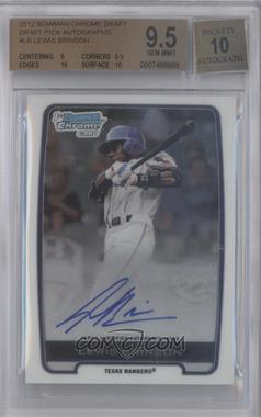 2012 Bowman Draft Picks & Prospects Chrome Draft Picks Certified Autographs #BCA-LB - Lewis Brinson [BGS 9.5]