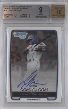 2012 Bowman Draft Picks & Prospects Chrome Draft Picks Certified Autographs #BCA-LB - Lewis Brinson [BGS 9]