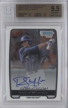 2012 Bowman Draft Picks & Prospects Chrome Draft Picks Certified Autographs #BCA-RS - Richie Shaffer [BGS9.5]
