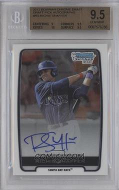 2012 Bowman Draft Picks & Prospects Chrome Draft Picks Certified Autographs #BCA-RS - Richie Shaffer [BGS 9.5]